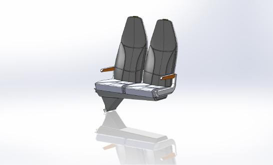 AAA-REGIONAL STANDARD DOUBLE TRANSVERSE SEAT 11 & 12 b